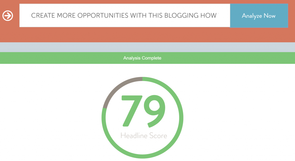 CoSchedule Headline Analyser for Blogging