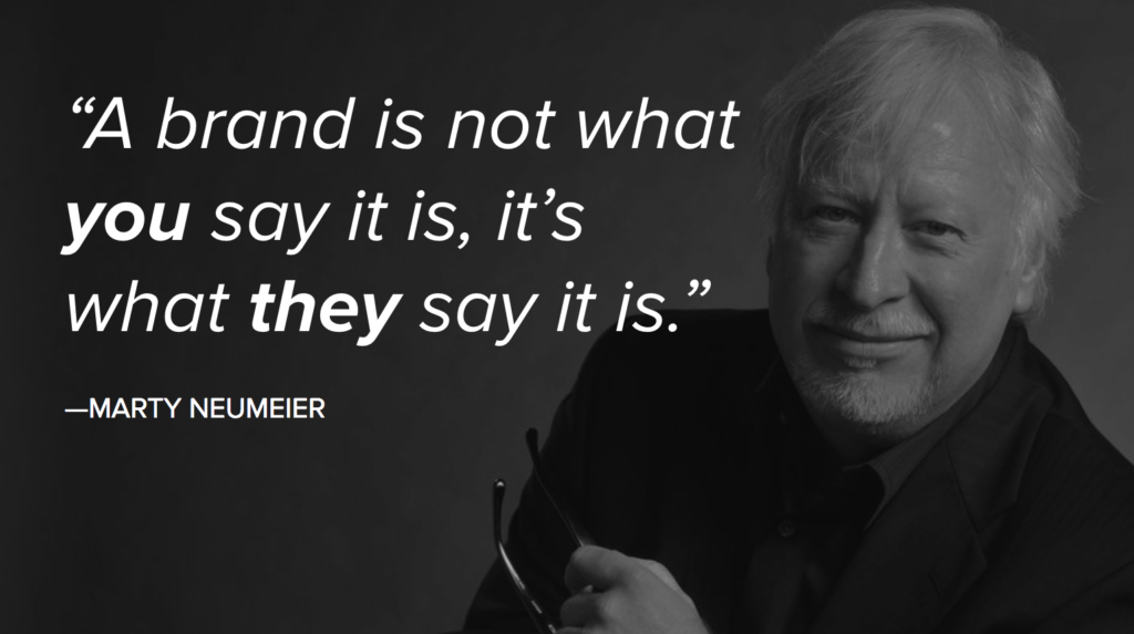 A Brand is Not What You Say it is - Marty Neumeier
