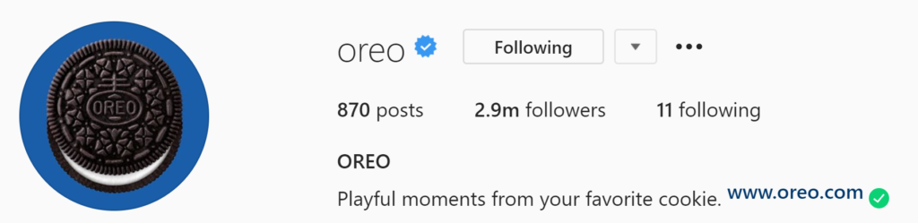 Oreo Instagram Profile